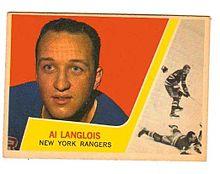 Albert Langlois Jr a joué au sein des Rangers de New-York. Source: Wikimedia Commons