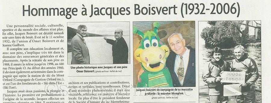 Le reflet du lac, Jacques Boivert