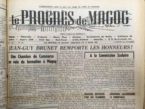 Le Progrès de Magog. La Société dhistoire de Magog