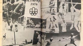 Le Progrès de Magog a consacré, dans son édition du 14 juillet 1976,  deux pleines pages à des photographies olympiques - Le Progrès de Magog. La Société d'histoire de Magog