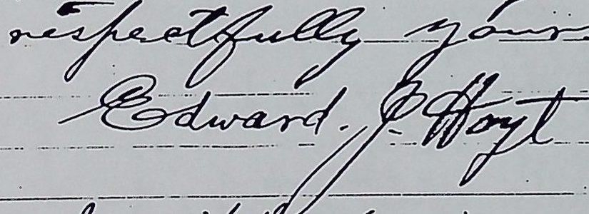Signature Edward J. Hoyt